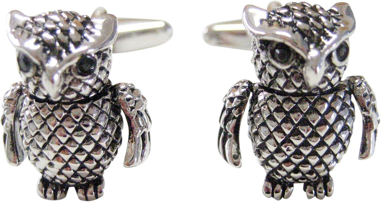 Kiola Designs Textured Owl Cufflinks
