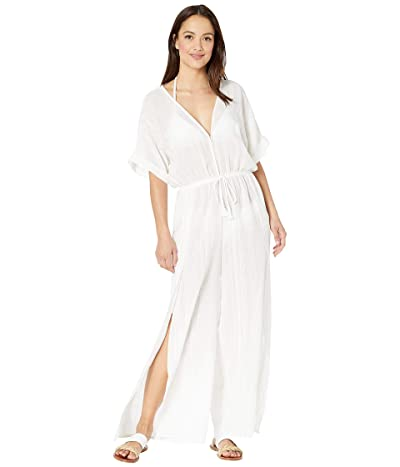 Robin Piccone Michelle Short Sleeve Jumpsuit Cover-Up (White) Women