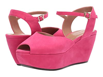 MARNI Suede Flatform Sandal (Fuchsia) Women