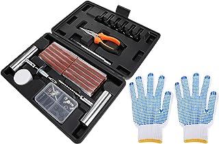 DOITOOL 1 conjunto universal de kit de reparo de pneu resistente para kit de reparo de perfuração de pneu plano, kit de pl...
