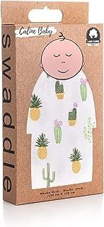 Caline Baby Müslin Bezi Örtü Kaktüs Desen - Yeşil - 120x120 cm [4 Adet Ağız Mendili HEDİYE!!]
