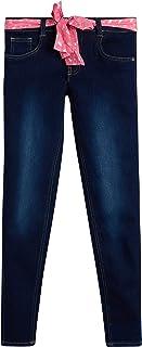 Sponsored Ad - dELiAs Girls' Super Stretchy Denim Jeans with Colorful Sash Belt