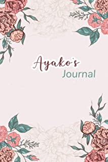 """Ayako's Journal: Beautiful Notebook Gift for Ayako, Elegant Cover,Practical 100 Lined Pages with Timeline, 6""""x9"""" Lightweig..."""