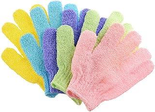Haobase 5Pcs Exfoliating Gloves Body Scrub - Shower/Bath
