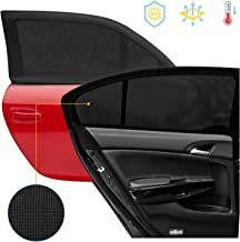 OYRGCIK Car Window Shade, Upgrade Breathable Mesh Car Rear Side Window Sunshades Protect Baby Kids from The Sun Universal Fit for Most of Cars SUV/MPV Road Travel Accessories, 2 Pack