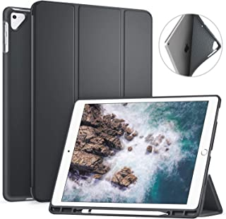 Ztotop Case for iPad Pro 12.9 Inch 2017/2015 with Pencil Holder- Lightweight Soft TPU Back Cover and Trifold Stand with Auto Sleep/Wake,Protective for iPad Pro 12.9 Inch(1st & 2nd Gen),Dark Gray
