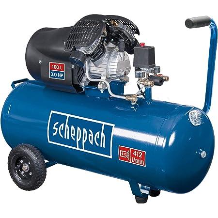 Scheppach Hc120dc Druckluft Kompressor I 8 Bar I 2 2 Kw I 100 Liter Kessel Baumarkt