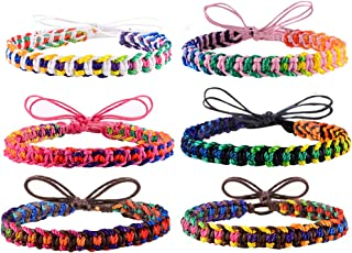 Handmade Friendship Bracelets for Women Teen Girls 6 Pack Bulk Adjustable Woven Waterproof String Braided Wristbands