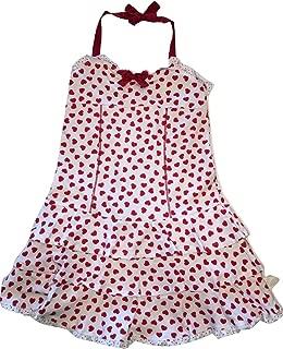 Girl's Halter Be Mine Hearts Ruffled Dress, Red/White, Size 10