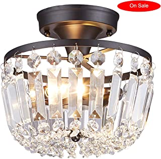 elongated crystal chandelier