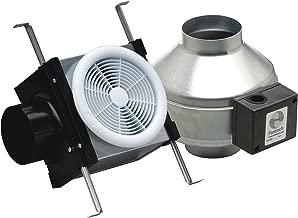 Fantech PB110 Inline Exhaust Bath Fan Kit, 110 CFM, Remote mount fan, for 4