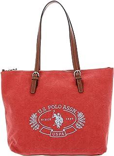 U.S. POLO ASSN. Springfield Canvas Shopping Bag M Peach