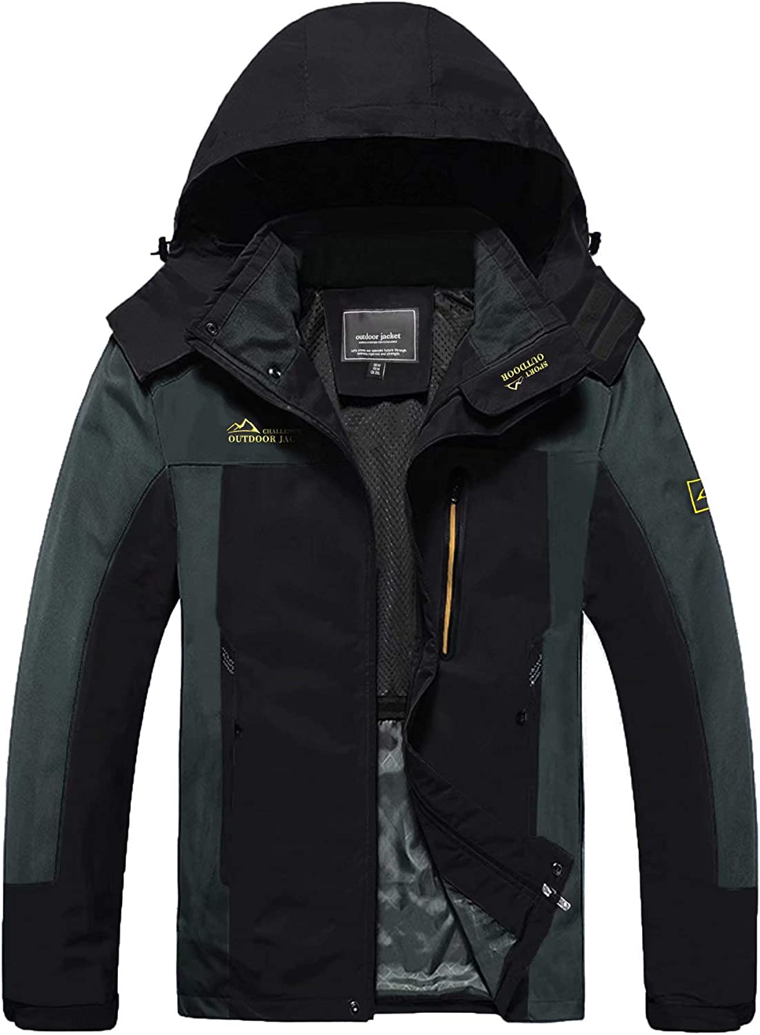 MAGCOMSEN Men's Hooded Windproof Water Jacket Rain Win Resistant Gorgeous New product type