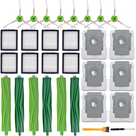 i3 Vacuum Cleaner Replacement HEPA Filters Brushes Kit for iRobot Roomba i7 i6