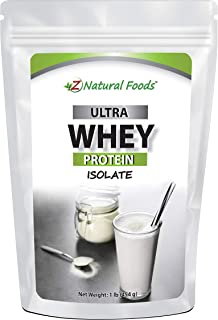 Whey Protein Isolate - Unflavored - All Natural Protein Powder Made in The USA - Mix in A Smoothie, Shake, Drink, Or Recip...