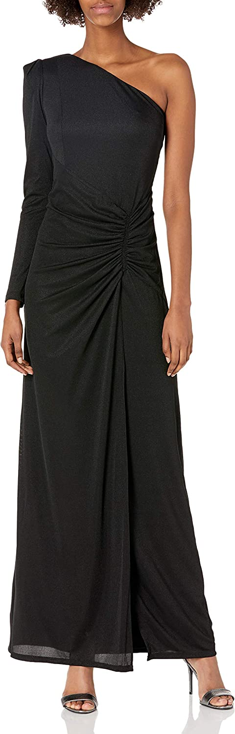 Halston Heritage Women's Long Sleeve Ruched Gown