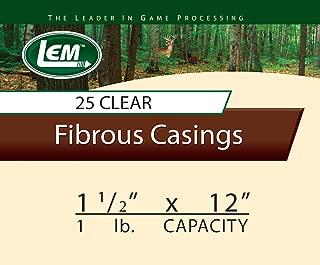 LEM Products 1 1/2 x 12-Inch Non-Edible Fibrous Casing