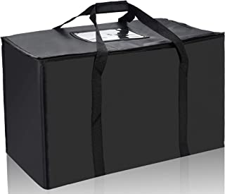 Nylon Large Insulated Food Delivery Bag; 23in x 13in x 15in(H)'; Perfect Pizza Delivery Bag;
