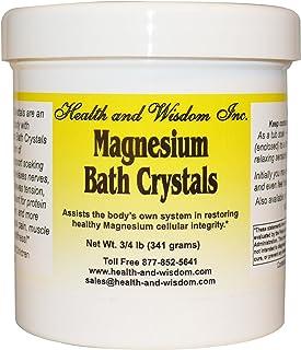 Health And Wisdom, Bath Crystals Magnesium 8 Baths, 12 Ounce
