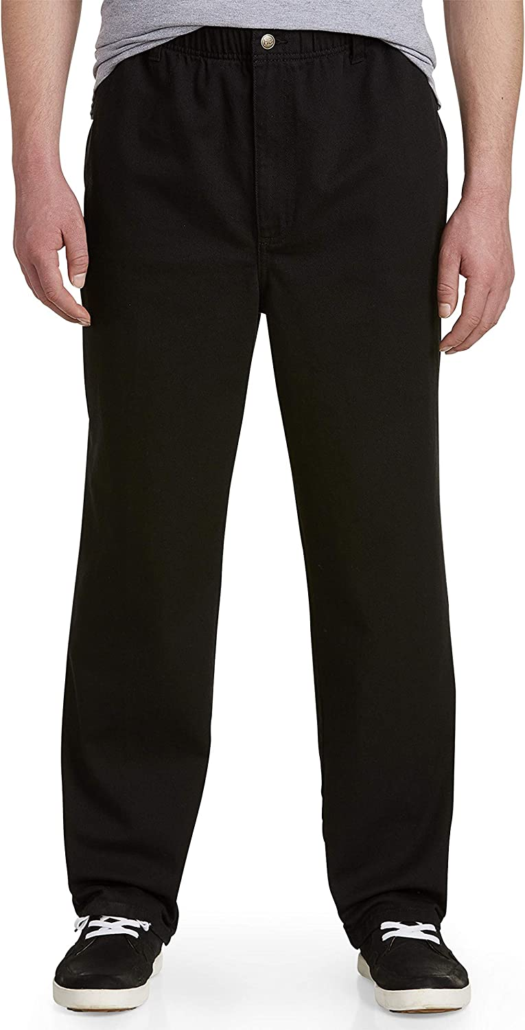 Harbor Bay by DXL Big and Tall Full-Elastic Jeans
