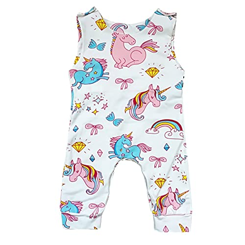 79d4c5dd7 Borlai Newborn Infant Baby Girl Sleeveless Cute Pony Romper Jumpsuit  Bodysuit Playsuit