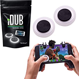 iDub Mobile Gaming Joystick Pack of 2 | Elite Black Video Game Controller for Shooting, Battle Royale, Fighting and Survival Games | Cell Phone Accessories for Tablets, iOS and Android Smartphones