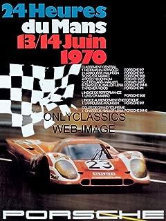 OnlyClassics 1970 Lemans SCCA AUTO Racing 12x16 Poster Porsche 917 Sports CAR Steve McQueen