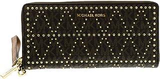 حقيبة يد للنساء من مايكل كورس، مونوغرام، بني