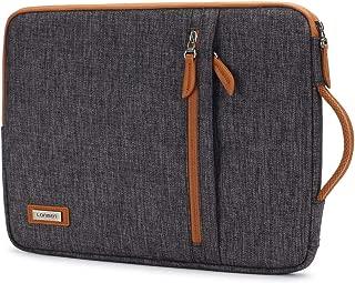 LONMEN 14 inch Laptop Sleeve Waterproof Canvas Handbag for Most 14