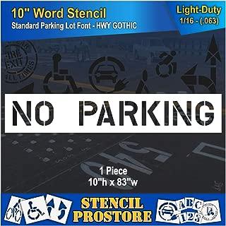 no parking stencil