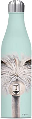 Studio Oh! Insulated Stainless Steel Water Bottle, 25 oz, Tina The Llama on Mint