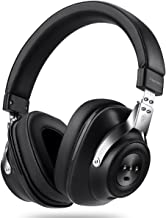 Active Noise Cancelling Headphones with Inline Microphone and Carrying Case for Travel, Over-Ear, Wired/Wireless