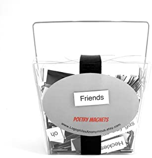Friends Poetry Magnets / Fridge Magnets / Friends TV Show Quotes / Friends Show Gift / Ross and Rachel / Housewarming Gift / Friends Office