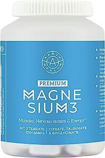 Aarja Health Triple Magnesium Complex - Para Calambres y Dolores Musculares -120 Tabletas veganas - Sin Estearato