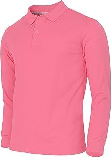 BCPOLO Men's Polo Shirt Cotton Pique Casual Long Sleeve Polo T-Shirt