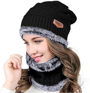TININNA Autunno e Invernale Moda Caldo Lavorato a Maglia Sciarpe Cappello di Lana Set Lunghe Sciarpe Berretto da Sci per Le Signora Donne Bianco