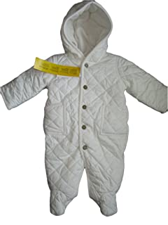 RALPH LAUREN Unisex Neutral Quilted Snowsuit Bunting Overall