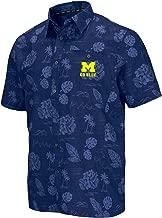 Colosseum Men's NCAA -Honolulu Camp- Button Down Hawaiian Short Sleeve Vacation Shirt