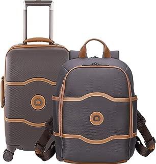 Delsey Chatelet 2 Piece Set (Hardside Carry-On & Backpack) (Brown)