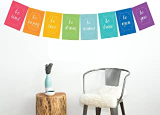 Peace Flags Mini Collection Wall Card Prints 11x14 Inch Print, Motivational Wall Quotes, Colorful Decoration, Be Kind, Be Happy, Children Wall Decoration, Wall Flags Decoration