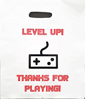 Video Game Party Favors Bags, Gamer Game On Theme Goody Bag Girls Boys Teens Tweens Super Strong for Treat Toys Gifts Candy Prizes Loot Birthday Supplies Pixel