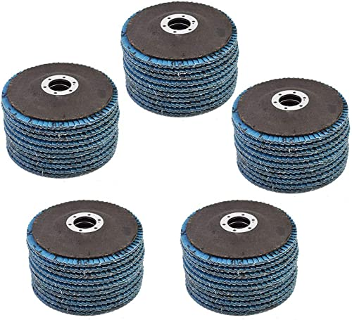 "2021 New 50 Pcs 4-1/2"" discount X 7/8"" 40 Grits Premium Zirconia Flap Discs Grinding discount Wheel Sandpaper Fit for Grinding online"