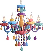 Kroonluchter met kristallen plafondlamp kleurrijke kroonluchter multi licht moderne kroonluchter voor meisjes kamer slaapk...