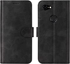 Feitenn Google Pixel 3A XL Case, Pixel 3A XL Case Leather, Wallet Flip Folio Cover Stand Card Slots PU Leather TPU Rubber Magnetic Closure Slim Bumper Shockproof Shell for Google Pixel 3A XL - Black