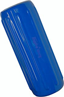 Taylor Made Products 41026 Big B Inflatable Vinyl Boat Fender with Center Rope Tube 8 inch x 20 inch, Blue
