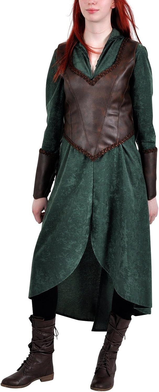 Hobbit Waldelbe Tauriel Elben Kostüm Set Damen Kostümkleid grün - 40 42