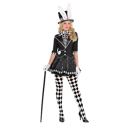 Womens Deluxe March Hare Dark Mad Hatter Alice In Wonderland Fancy Dress  Costume