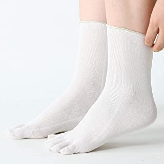 【リニューアルオープン価格】冷え取り靴下 3足セット シルク100% コットン100% 5本指ソックス サイズ:22.5cm-24.5cm カラー:生成