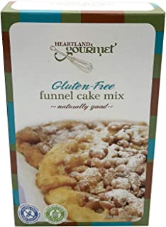 Heartland Gourmet: Gluten Free Funnel Cake Mix - Crispy and Airy - Certified Gluten Free Ingredients - All Purpose - Safe for Celiac Diet