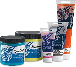 Speedball Water-Soluble Block Printing Ink, Process Cyan, 5 Ounces